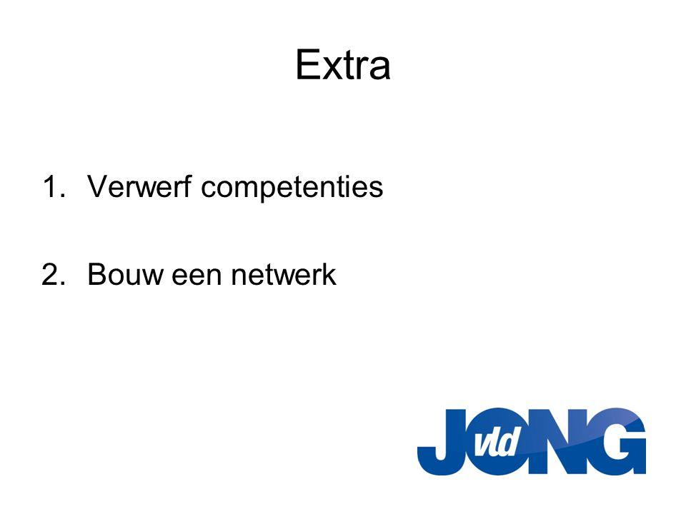 Extra 1.Verwerf competenties 2.Bouw een netwerk