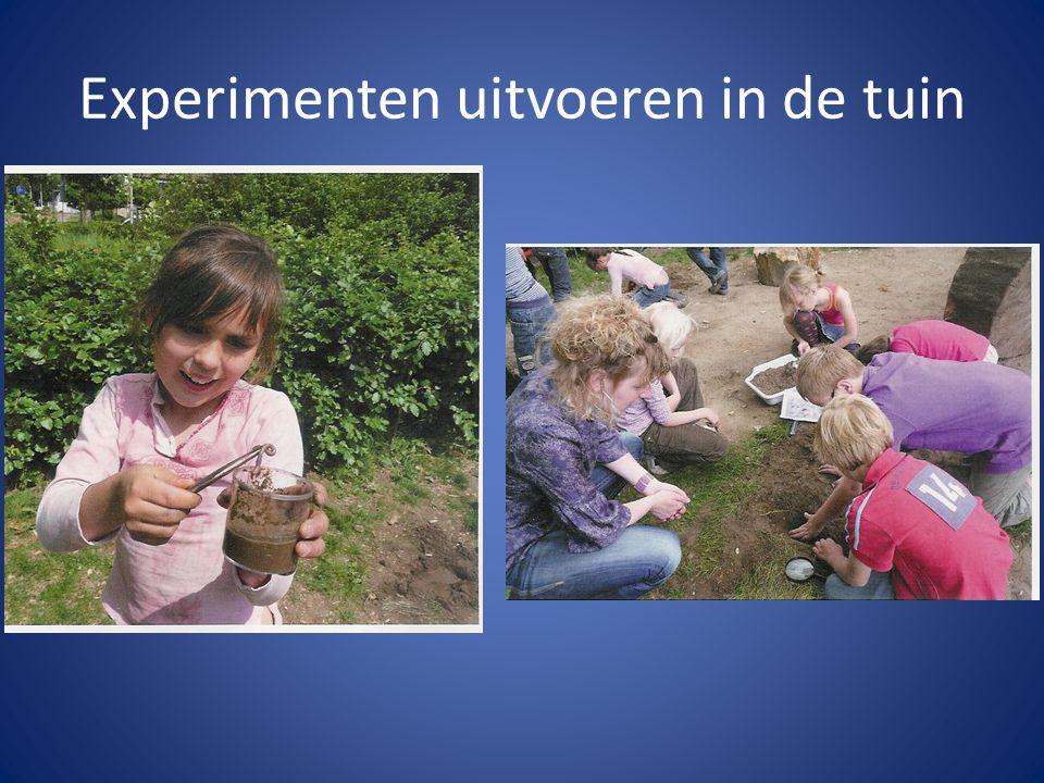 Experimenten uitvoeren in de tuin