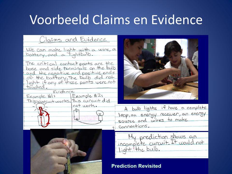 Voorbeeld Claims en Evidence