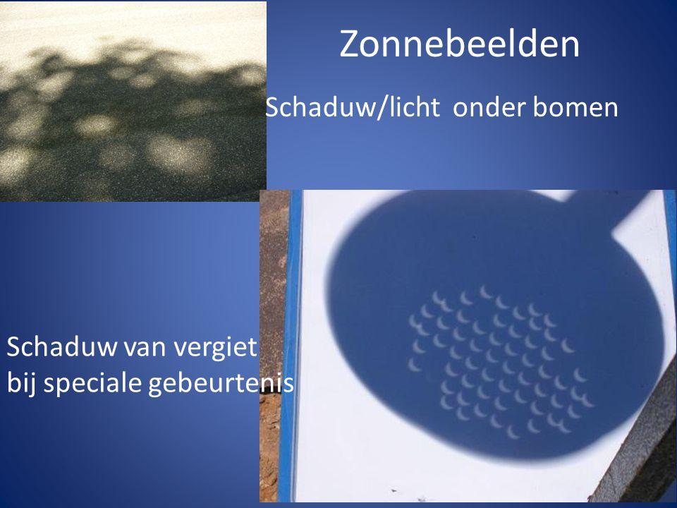 Zonnebeelden Schaduw van vergiet bij speciale gebeurtenis Schaduw/licht onder bomen