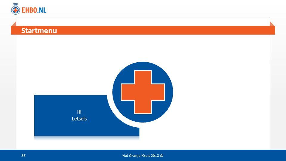 Beeld en tekst gelijk Het Oranje Kruis 2013 ©35 Startmenu