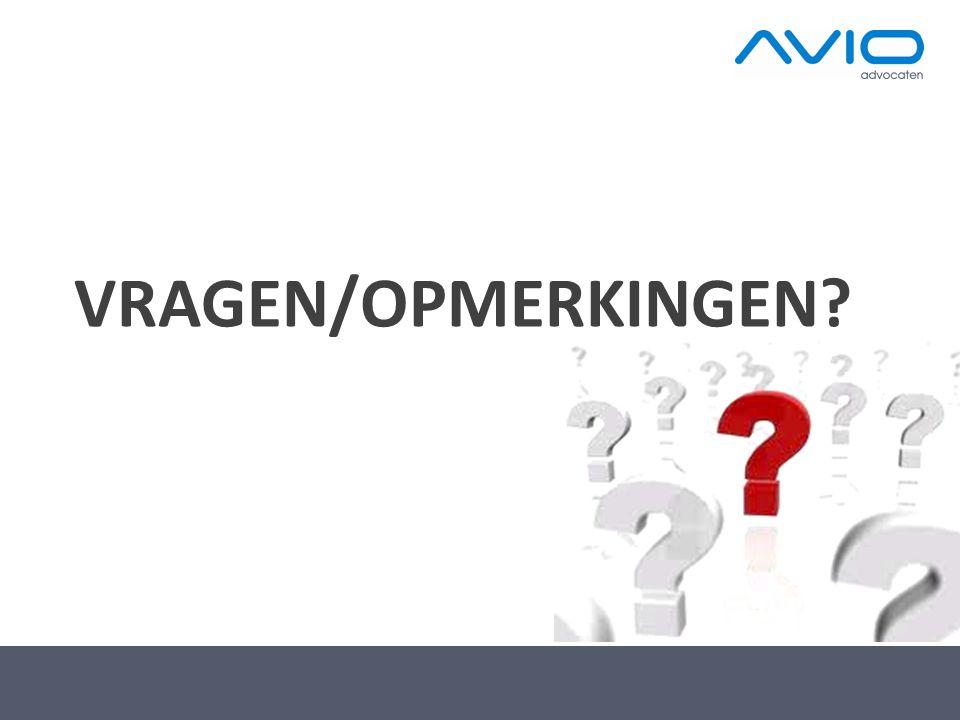 VRAGEN/OPMERKINGEN?
