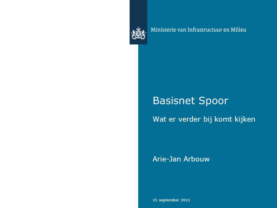 15 september 2011 Basisnet Spoor Wat er verder bij komt kijken Arie-Jan Arbouw