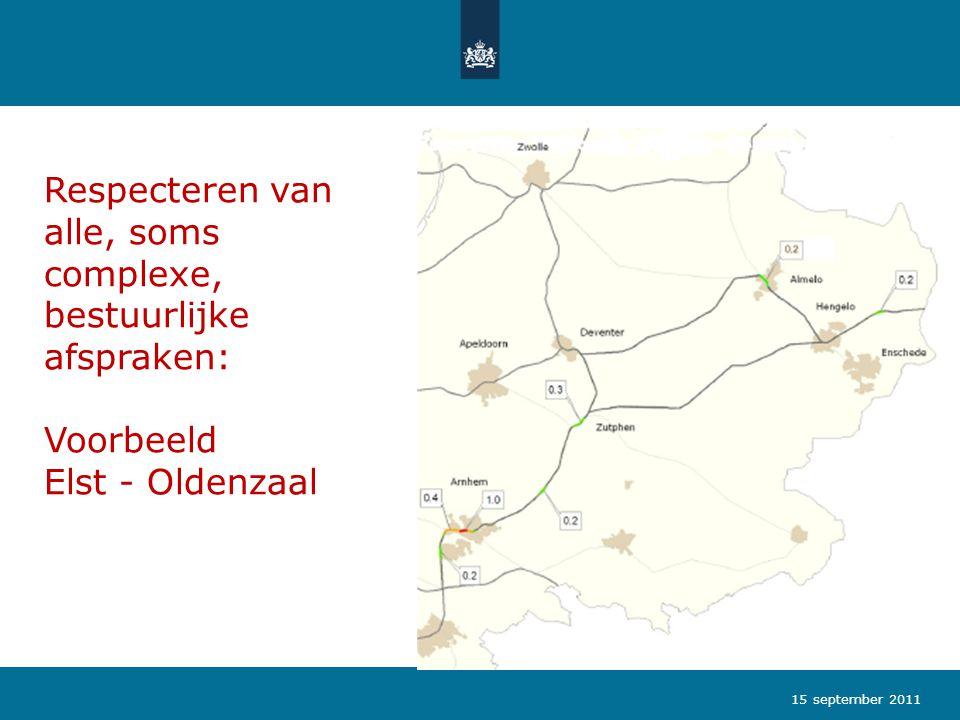 Respecteren van alle, soms complexe, bestuurlijke afspraken: Voorbeeld Elst - Oldenzaal