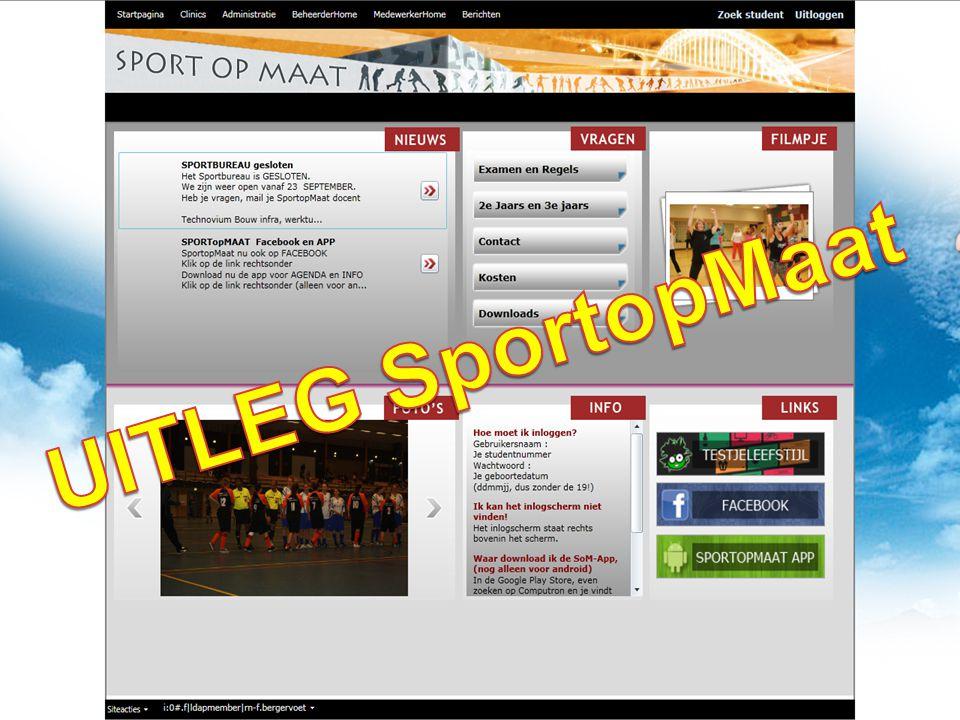 • Leefstijltest invullen (verplicht) • Invoeren van 06 nummer en eigen email adres (verplicht) • Andere vragen beantwoorden; sportvereniging (niveau) • DAARNA kun je pas je eigen sportprogramma kiezen • Vanaf 23 sept.