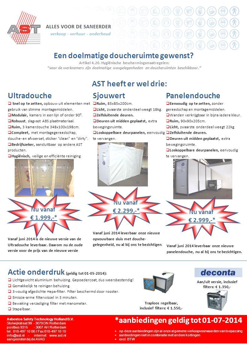 Nieuw in het assortiment: Asbestostrip Emissiereductie factor 100 haalbaar.