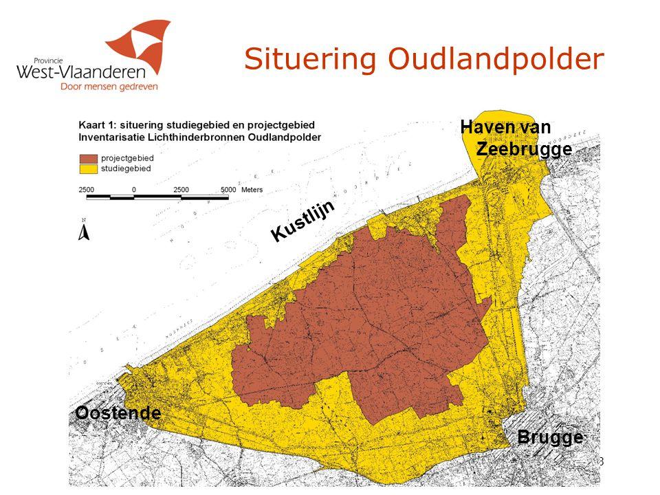 3 Situering Oudlandpolder Kustlijn Brugge Oostende Haven van Zeebrugge