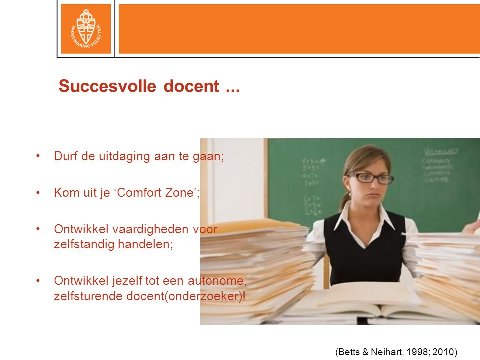 Succesvolle docent...