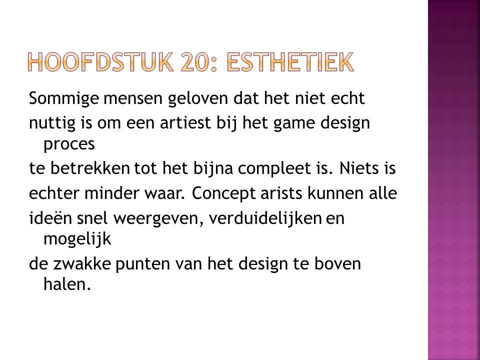 Sommige mensen geloven dat het niet echt nuttig is om een artiest bij het game design proces te betrekken tot het bijna compleet is. Niets is echter m