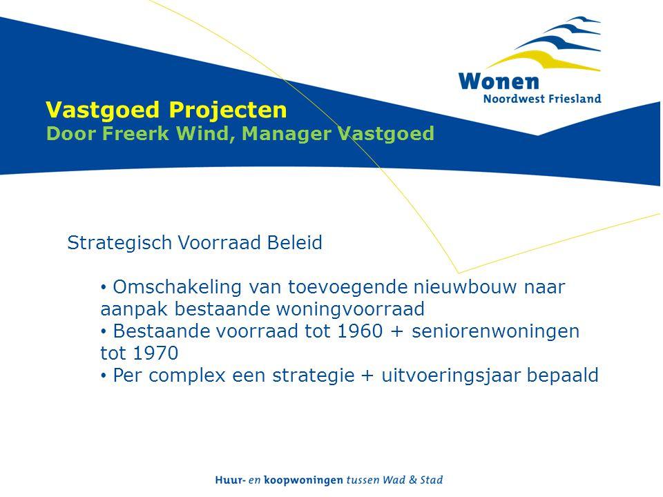 Vastgoed Projecten Door Freerk Wind, Manager Vastgoed Strategisch Voorraad Beleid • Omschakeling van toevoegende nieuwbouw naar aanpak bestaande wonin