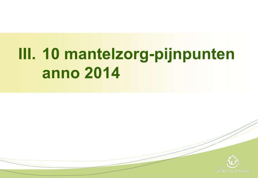 III.10 mantelzorg-pijnpunten anno 2014