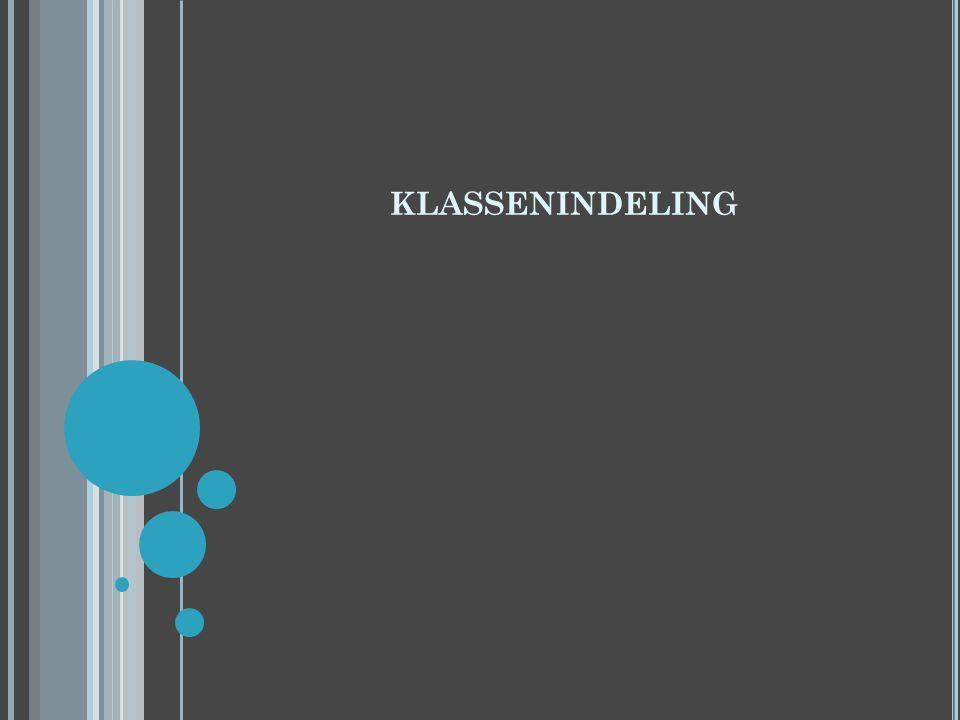 KLASSENINDELING