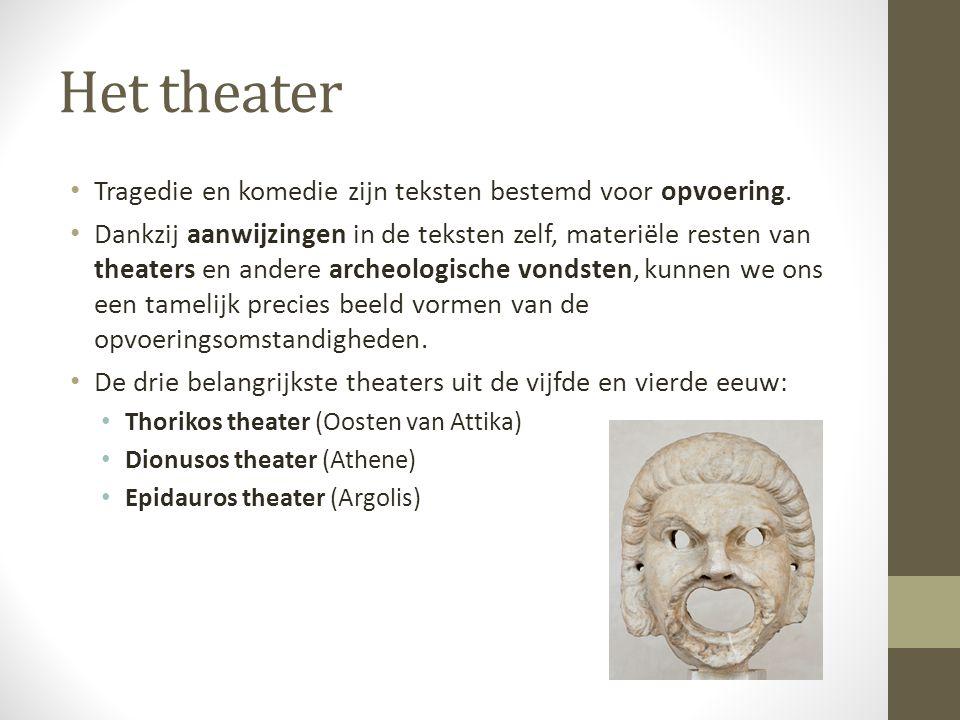 Oorsprong en vroegste ontwikkeling (3) • Hoe de Grieken de sprong hebben gemaakt naar echt drama is niet achterhaalbaar.