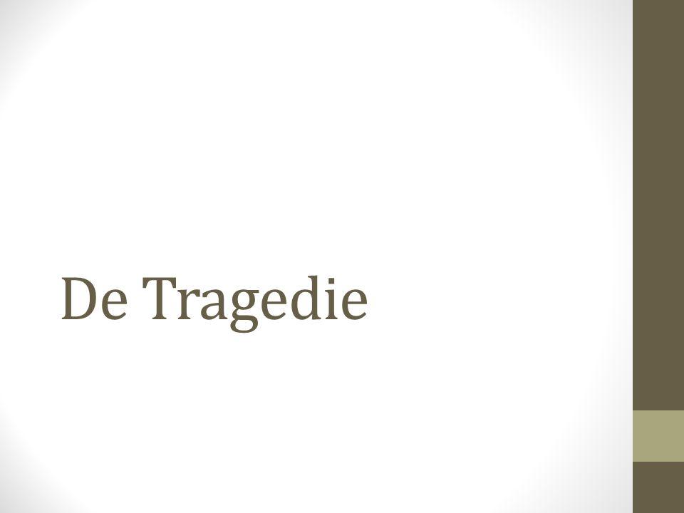 (3) Formele kenmerken van de tragedie • Met 'onderscheiden delen' heeft Aristoteles het over de standaardstructuur van de tragedie, die bestaat uit: • De prologos: het eerste acteursgedeelte met voorstelling van de situatie of expositio.