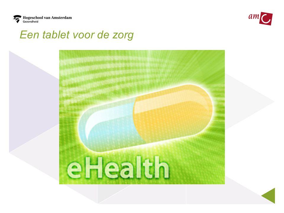 Een tablet voor de zorg