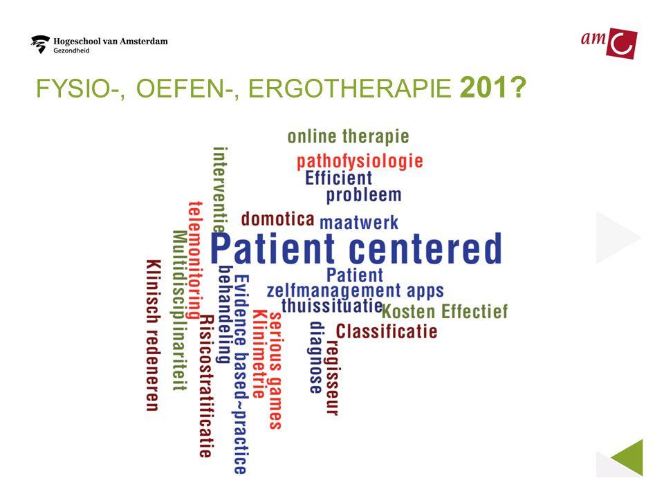 FYSIO-, OEFEN-, ERGOTHERAPIE 201