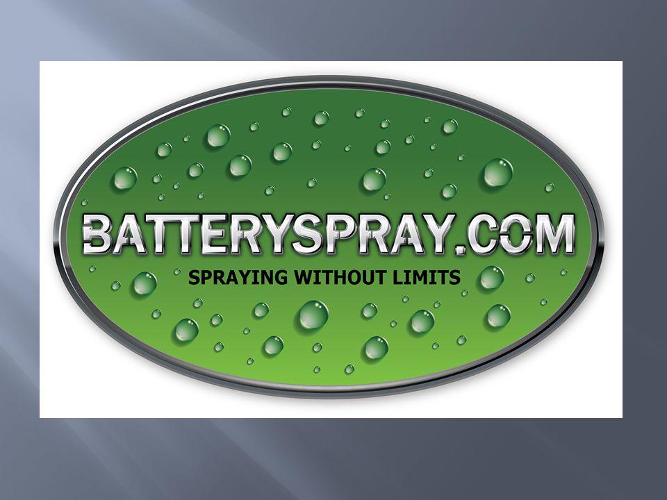 BATTERYSPRAY.COM KenmerkenVoordelenMotievenBaten Batteryspray is bijzonder gebruiksvriendelijk, mobiel, draadloos en overal inzetbaar  Direct gebruiksklaar  Geen aansluitingen nodig  Eenvoudig verplaatsbaar  Zeer flexibel  Overal inzetbaar  Tijdswinst  Eenvoudig in gebruik  Constante kwaliteit  Egaal en stabiel spuitbeeld  Flexibiliteit  Overal te gebruiken U heeft een apparaat waar iedere werknemer mee kan werken, welke een constante kwaliteit spuitbeeld geeft en welke in gebruik tijdswinst levert.