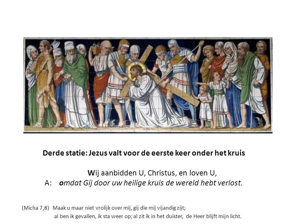 Derde Statie,linkerpaneel Lucas 15; 8-9 Parabel van de verloren drachme Deel in mijn blijdschap, want de drachme die ik verloren had, heb ik teruggevo
