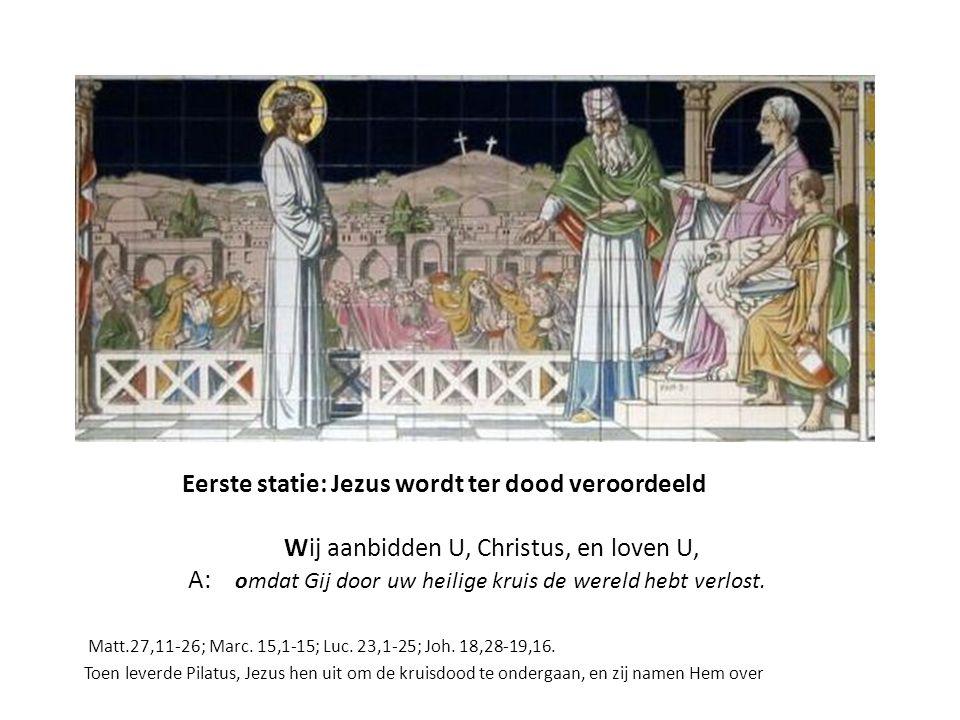 Tiende Statie, rechterpaneel Gen.37,32-33 De broers overhandigen de rok van Jozef aan Jacob