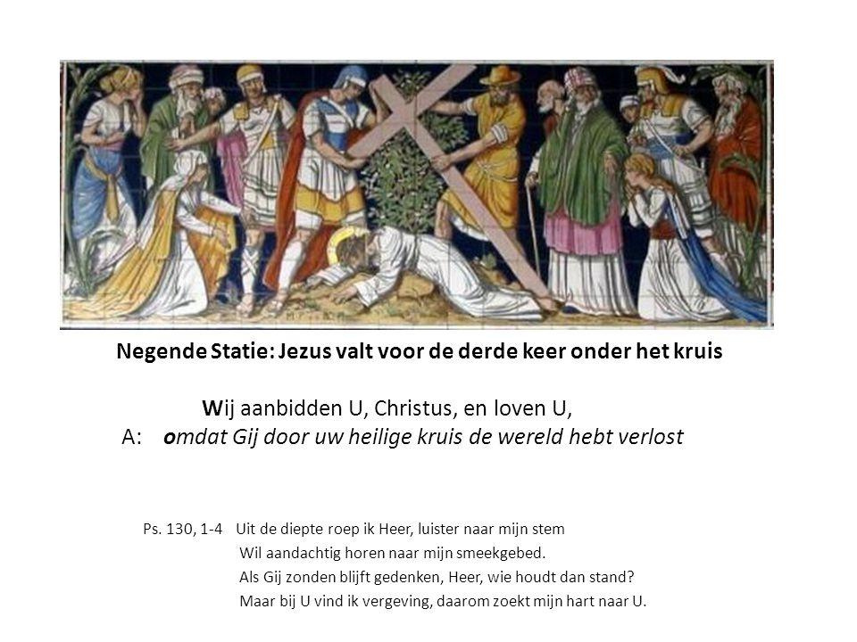 Negende Statie, linkerpaneel Jer.39 Jeremias treurt over de val van Jeruzalem