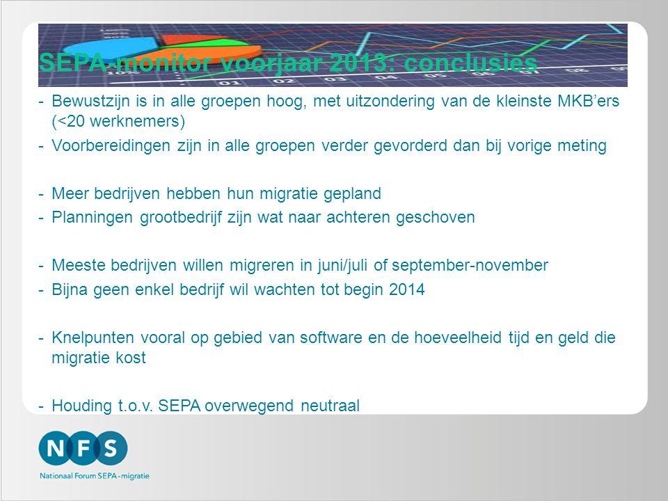 Hoe verloopt het SEPA verandertraject.