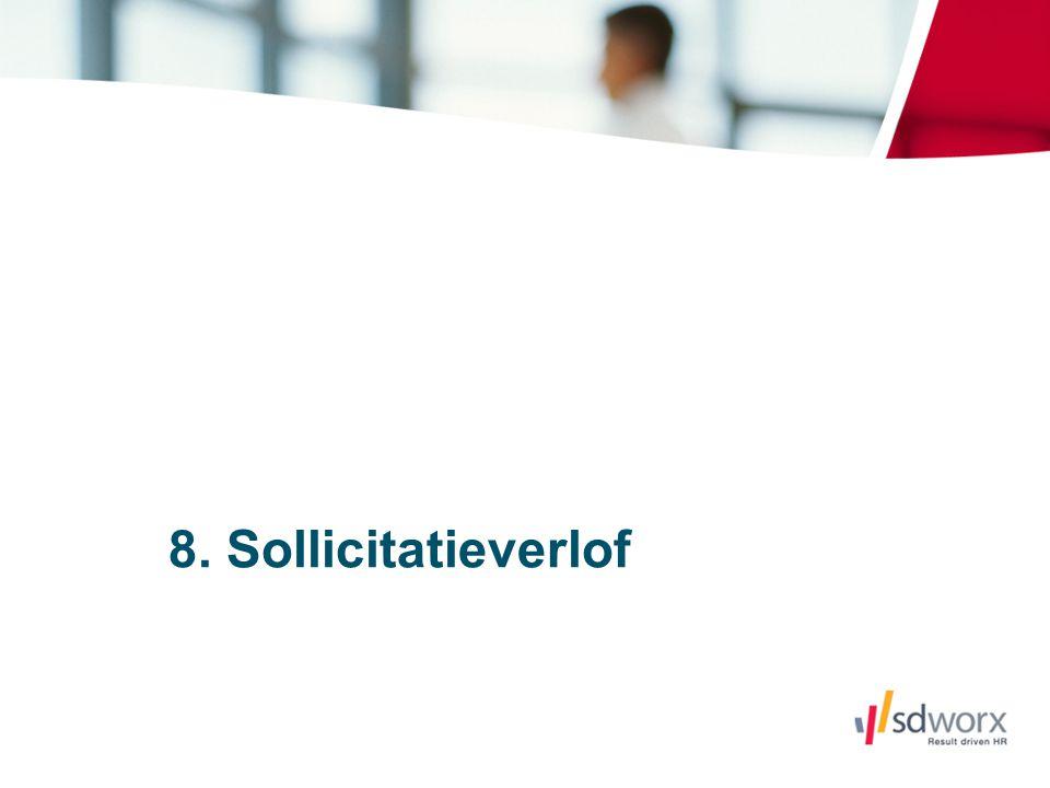 8. Sollicitatieverlof