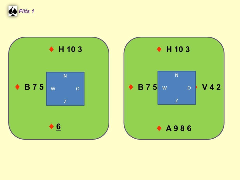 ♦ H 10 3 Flits 1 ♦ 6♦ 6 ♦ A 9 8 6 ♦ B 7 5 ♦ H 10 3 ♦ B 7 5 ♦ V 4 2 N W O Z N W O Z