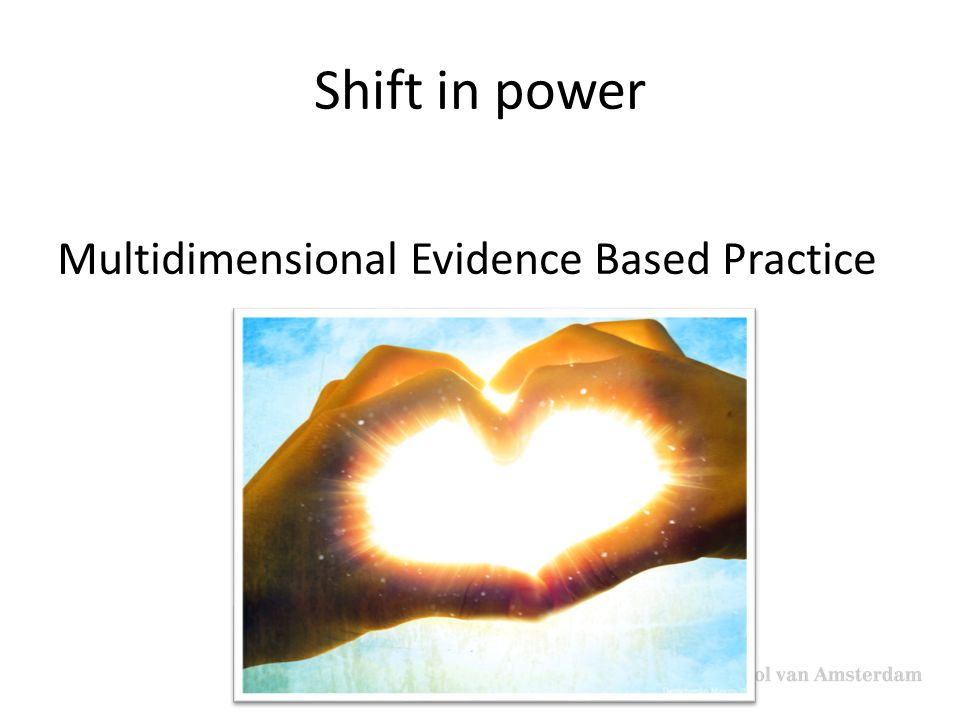 Shift in power Multidimensional Evidence Based Practice
