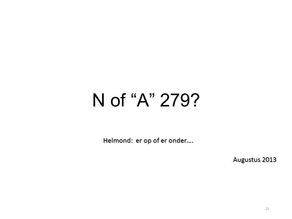 """N of """"A"""" 279? Helmond: er op of er onder…. Augustus 2013 24"""