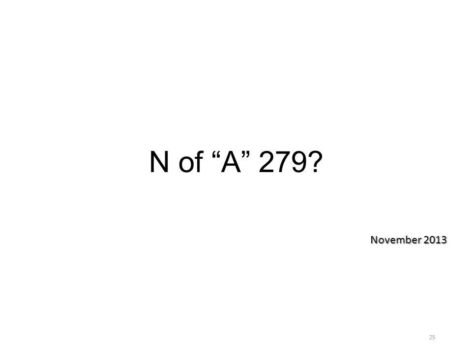 """N of """"A"""" 279? November 2013 25"""