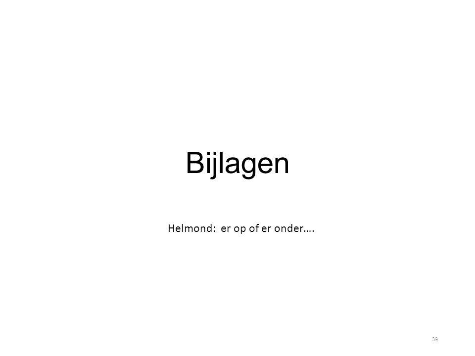 Bijlagen Helmond: er op of er onder…. 39