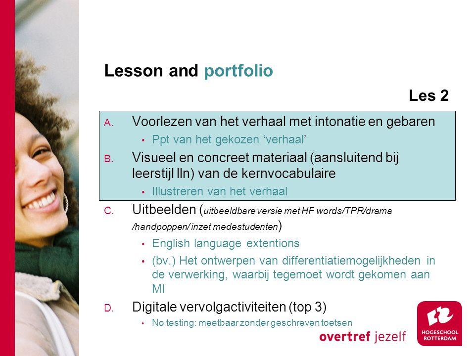 Lesson and portfolio A.