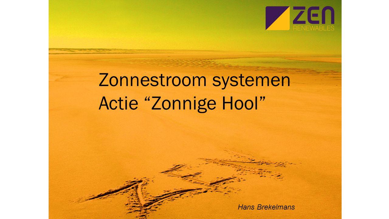 Zonnestroom systemen Actie Zonnige Hool Hans Brekelmans
