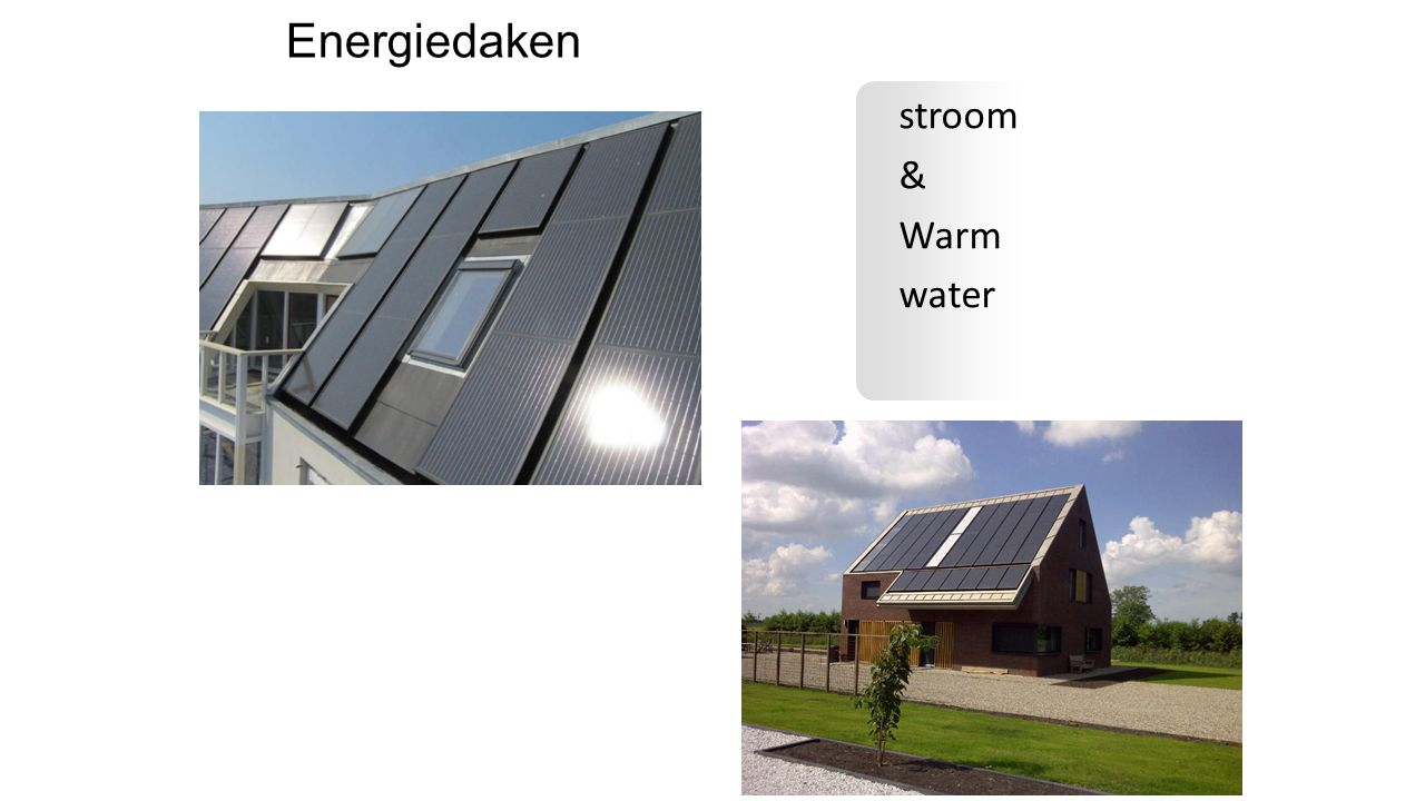 Energiedaken stroom & Warm water