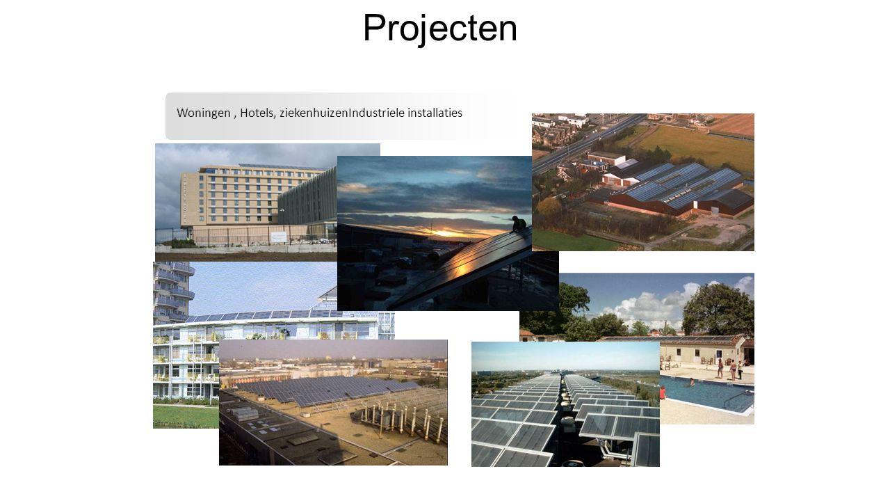 Projecten Woningen, Hotels, ziekenhuizenIndustriele installaties