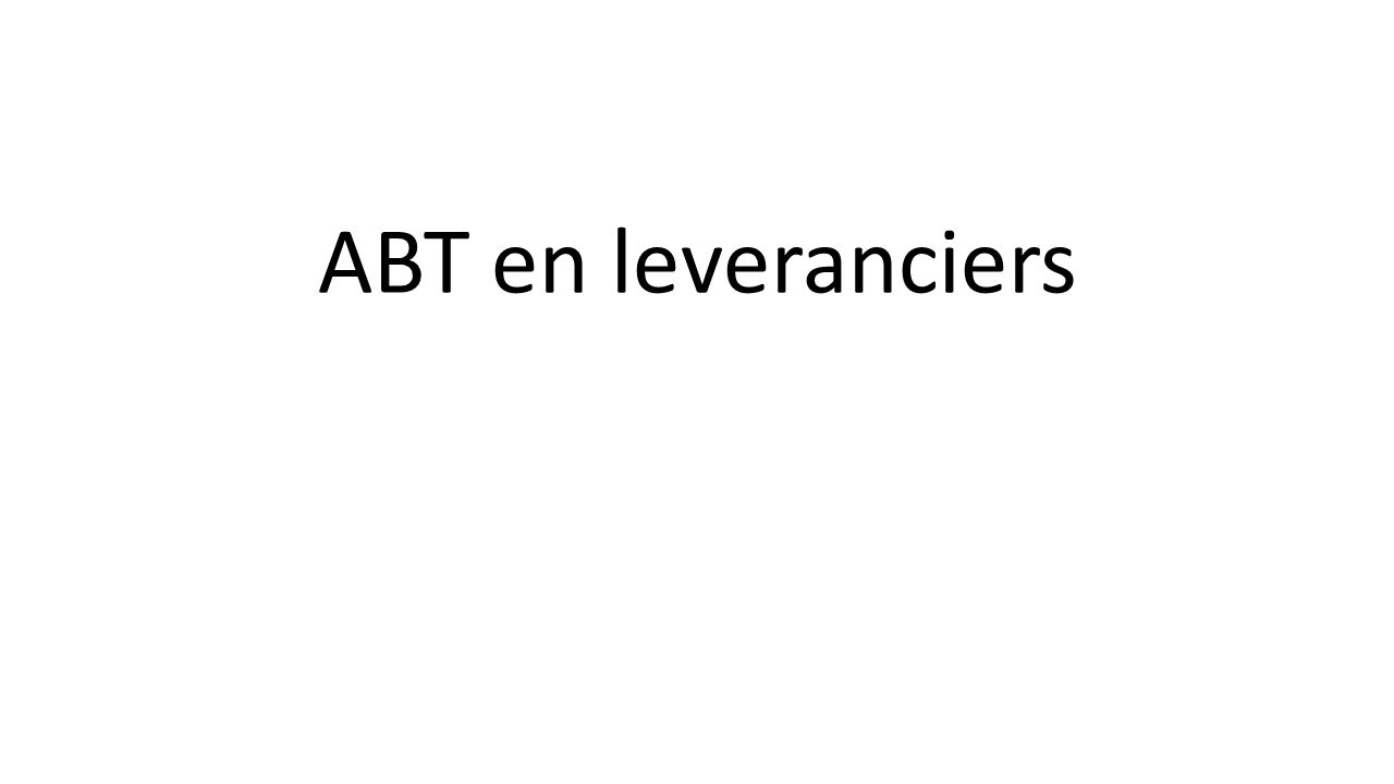 ABT en leveranciers