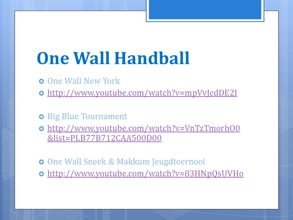 Handball Rules One Wall One Wall Handball One Wall New York