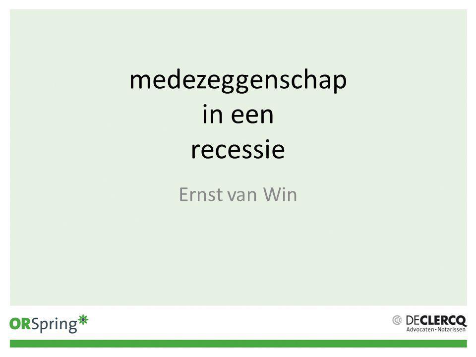 medezeggenschap in een recessie Ernst van Win