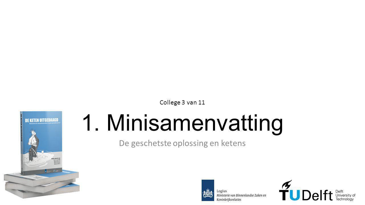 1. Minisamenvatting De geschetste oplossing en ketens College 3 van 11