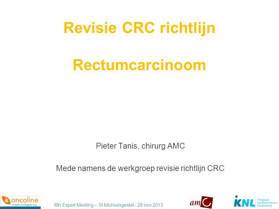 6th Expert Meeting – St Michielsgestel - 28 nov 2013 Integraal kwaliteitsbeleid Richtlijnen Indicatoren Registratie Visitatie Accreditatie / Certificatie Richtlijnen