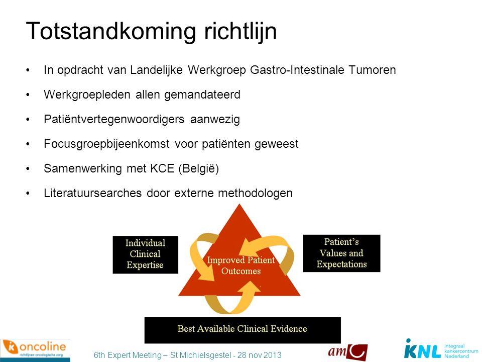 6th Expert Meeting – St Michielsgestel - 28 nov 2013 Werkgroep Werkgroep (overige leden, vervolg) Dr.