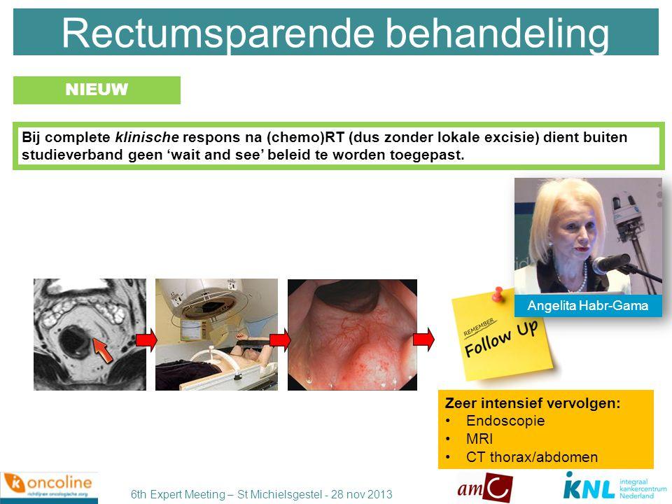 6th Expert Meeting – St Michielsgestel - 28 nov 2013 De werkgroep is van mening dat er geen duidelijke aanbeveling valt te geven over het wel of niet toedienen van adjuvante chemotherapie.