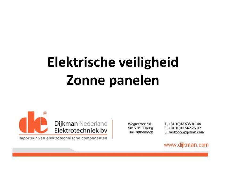 Elektrische veiligheid Zonne panelen