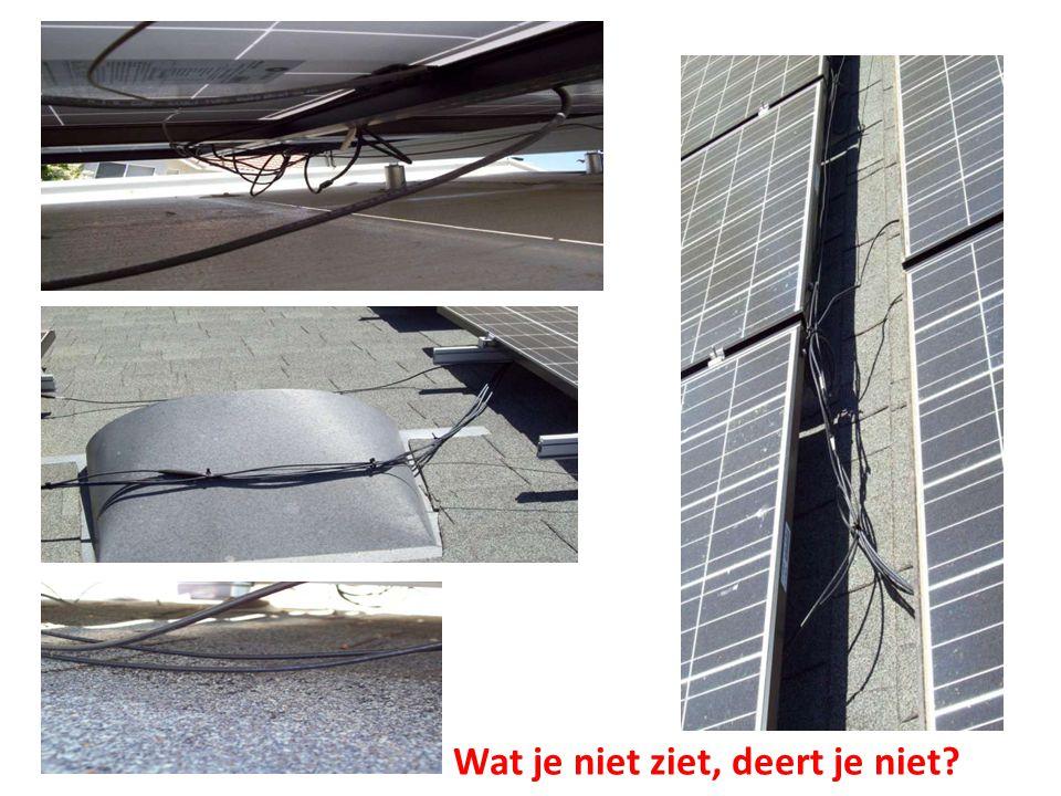 SPANNINGSGEVAAR Bij calamiteiten staat er een dodelijke DC spanning >120VDC is dodelijk