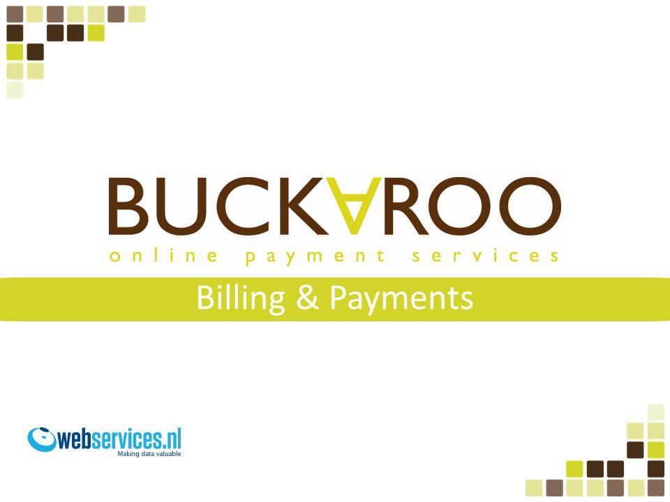 Agenda • Introductie Buckaroo • Voorbeelden services Buckaroo • Praktijk case • Het proces • SEPA
