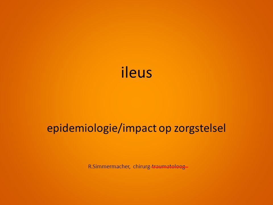 ileus epidemiologie/impact op zorgstelsel R.Simmermacher, chirurg-traumatoloog