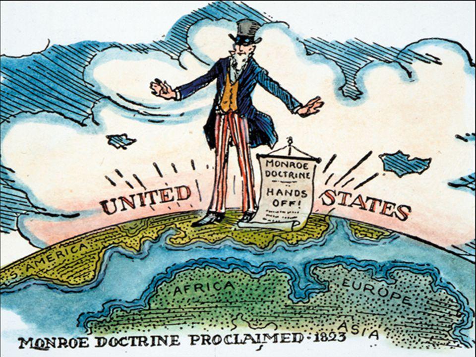 Monroedoctrine • Toch was Amerika op haar eigen continent niet isolationistisch bezig • Dat zien wij op de volgende kaart!