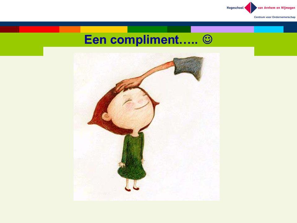 Een compliment….. 