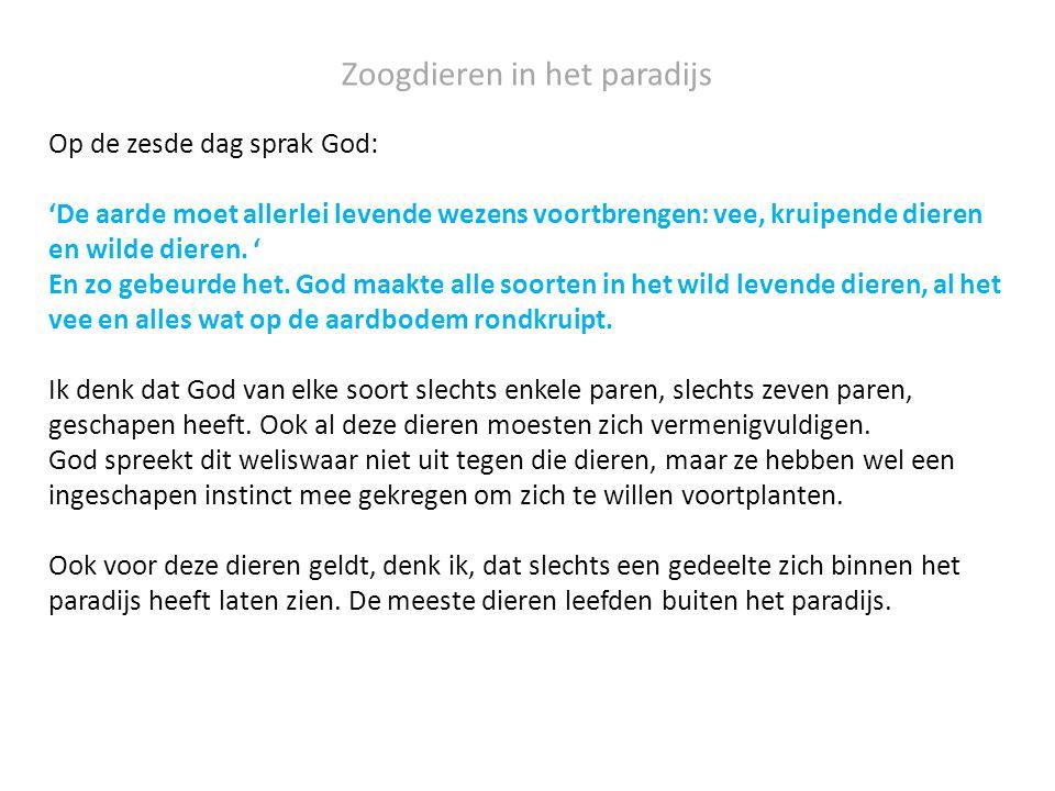 In die eerste mens heeft God niet alleen Adam en Eva aangesproken, maar tevens al hun nakomelingen.