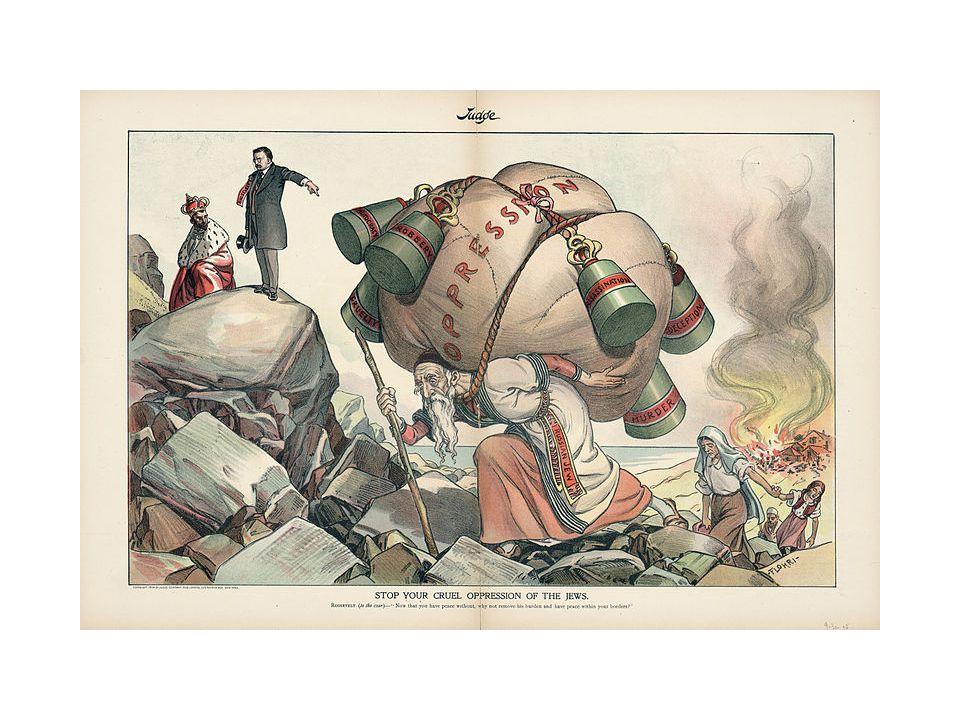 Derde golf van pogroms 1918-1921 (60.000 doden + zelfde aantal gewonden/verkrachtingen) • Na de Russische Revolutie startte een burgeroorlog.